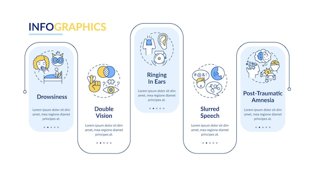 Шаблон инфографики травмы головы