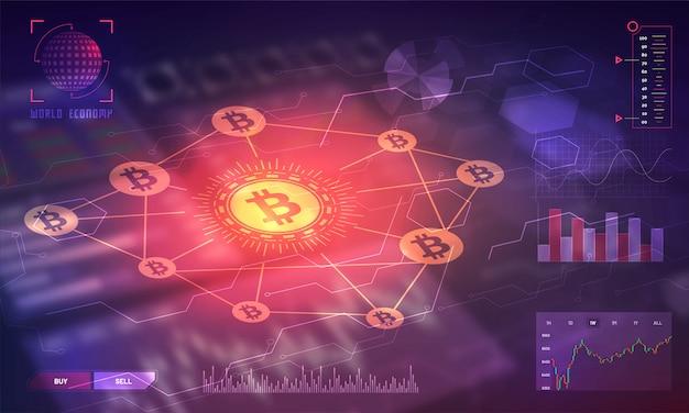 Head-up display of a bitcoin trading platform.