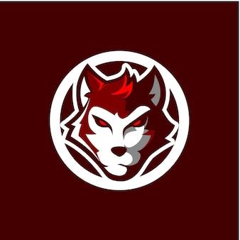 Head wolf sport logo icon
