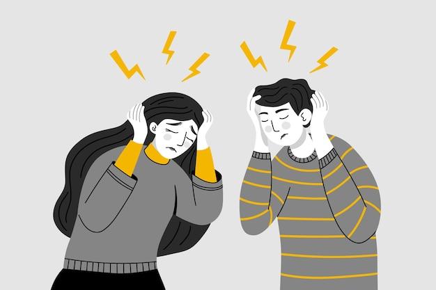 두통 편두통 만성 통증 피로 스트레스 압박 긴장