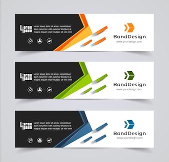 Header Banner design Vector Background for cover page website.