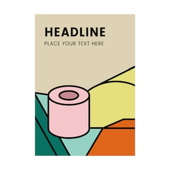 Headline colorful mockup graphic design