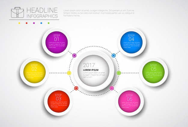 Headline infographic design business data graphic collection presentation copy space