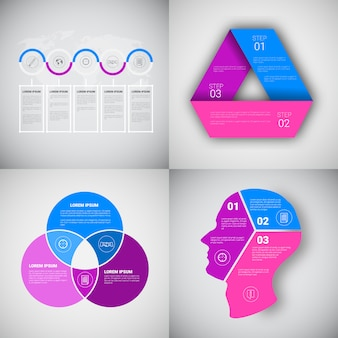 Headline infographic set design business data graphic collection presentation copy space