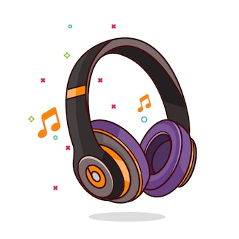 Headphone icon illustration
