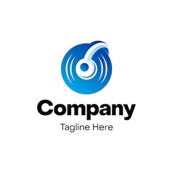 Дизайн логотипа музыки для наушников