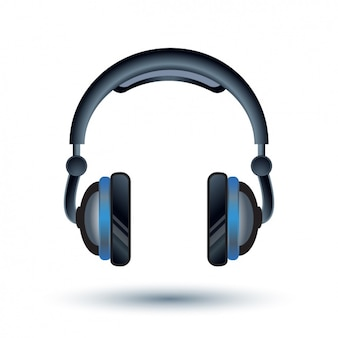 Headphones background design