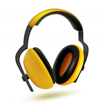 Headphones for ear protection from noise.
