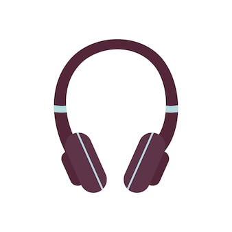 Headphones icon modern fashion accessory and element for listening to music