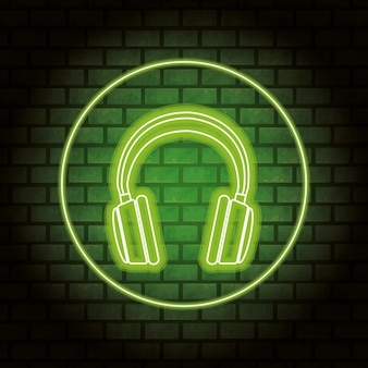 Headphones neon
