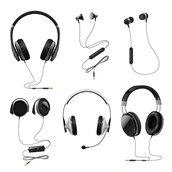 Headphones realistic set