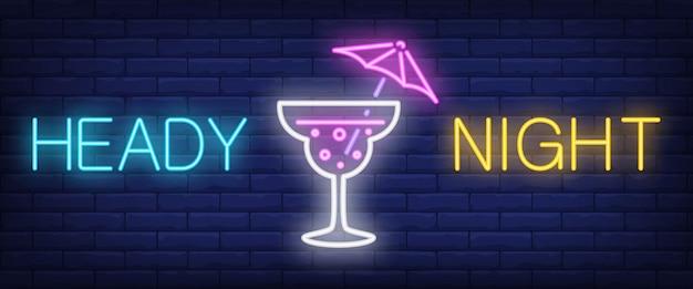 Heady night neon sign