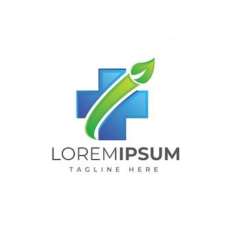 Healht leaf logo template