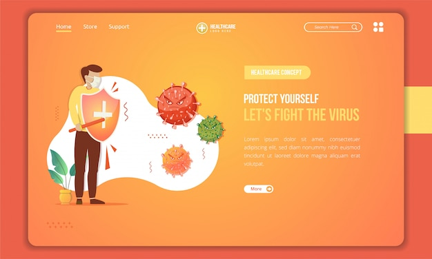Healtcare and virus prevention concept