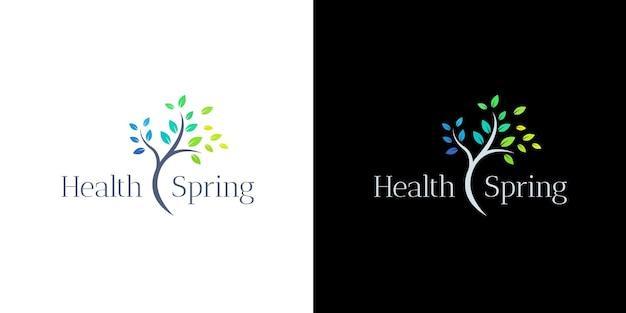健康とウェルネスのロゴデザイン