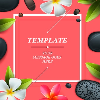 Health and beauty frame template, concept for spa salon