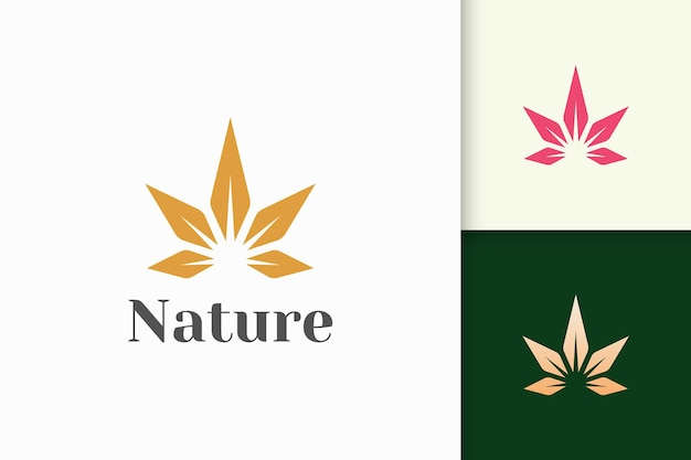 Health or beauty logo in simple flower shape fit for cosmetic product