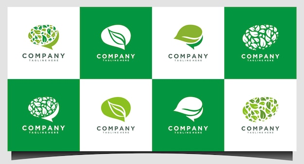 Health brain logo designs concept vector, nature mind logo template, education logo symbol