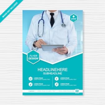 건강 관리 및 의료 전단지 템플릿