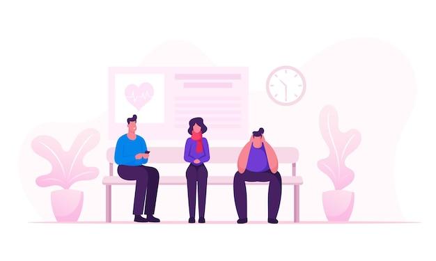 건강 관리 및 의학 개념 만화 평면 그림