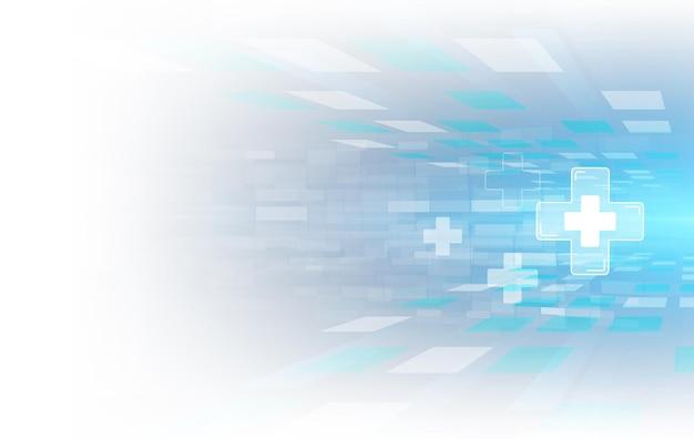 ヘルスケアと科学のアイコンパターン医療イノベーションコンセプトの背景