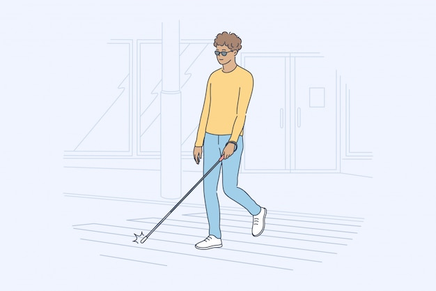 Health care blindness desease motion concept