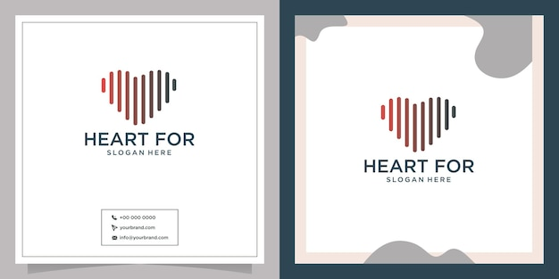 Health care company branding valentines day ribbon logo type