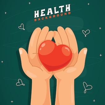 Концепция дизайна здравоохранения с сердцем
