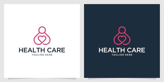 Дизайн логотипа линии здравоохранения