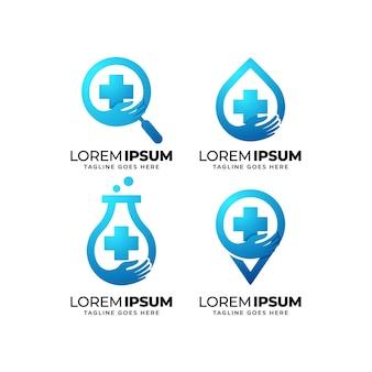 ヘルスケアのロゴデザインセット