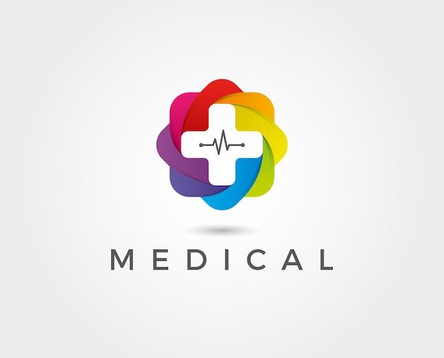 ヘルスケアのロゴテンプレート。医療ヘルスケアのロゴのデザインテンプレート。