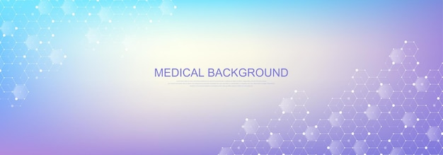 Health care and medical pattern innovation concept background design. abstract geometric hexagons shape medicine and science background. vector illustration.