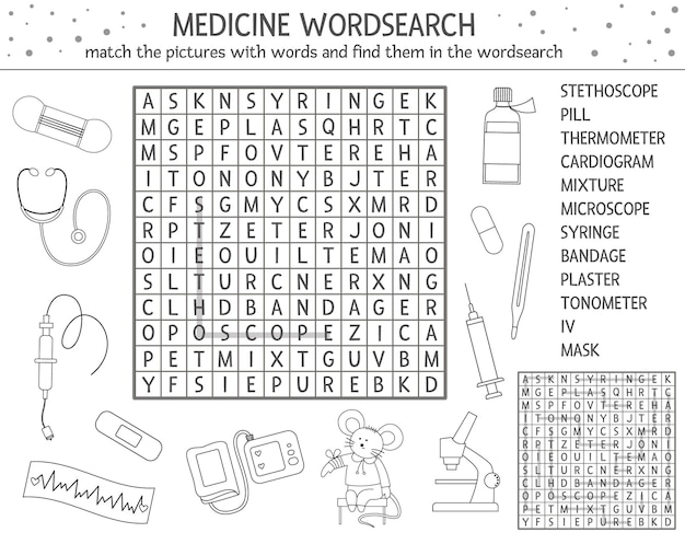 Health care outline wordsearch puzzle