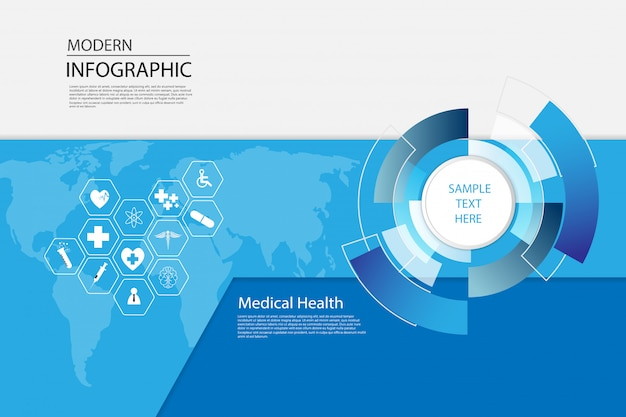 Health care science medical infographic template