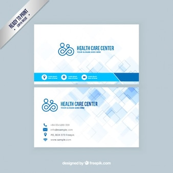 Medical business card vectors photos and psd files free download health care visit card reheart Images