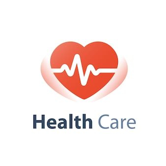 Health check up, heart pulse trace, medical service, cardiovascular disease diagnosis