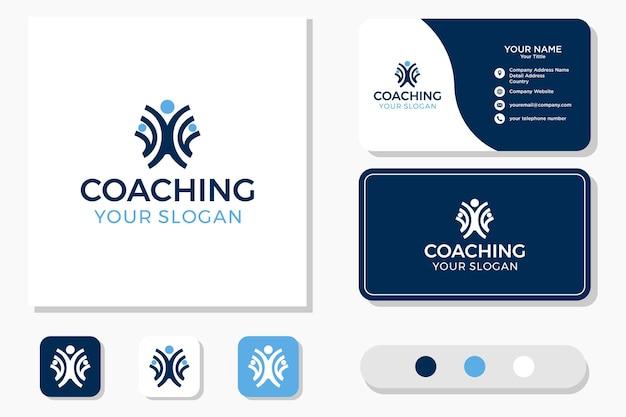Дизайн логотипа коучинга здоровья и визитная карточка