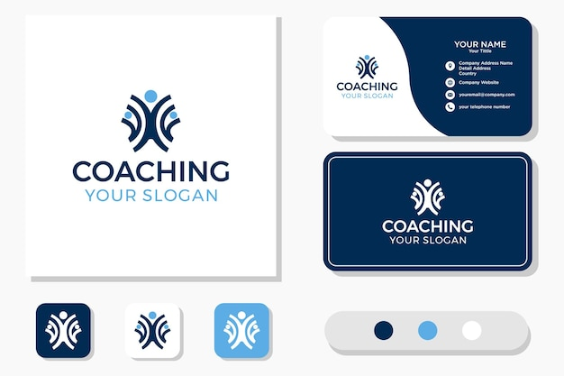 Health coaching logo design and business card