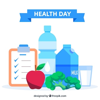 Health day background in flat style