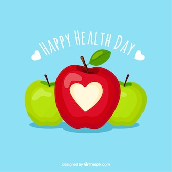 Health day background with apples