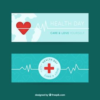 Bandiere di giorno salute