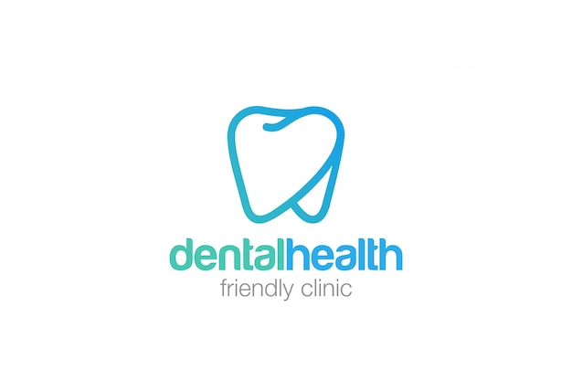 Health dent logo linear style icon.