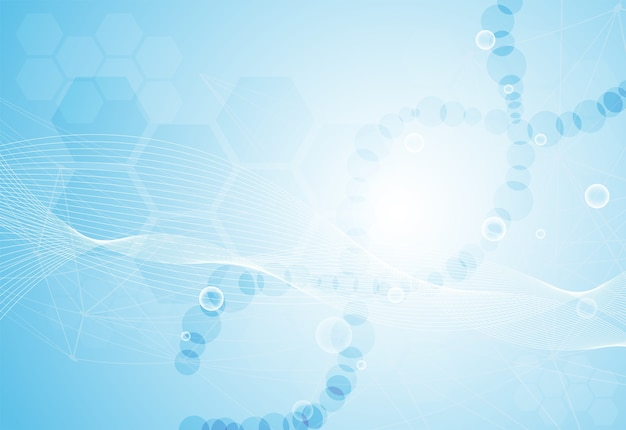 Health dna on blue background