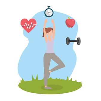 Health fitness cartoon