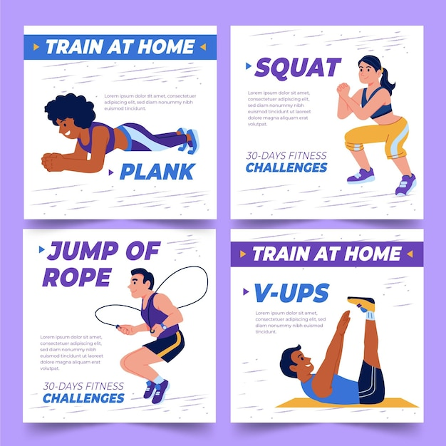 Health and fitness instagram posts collection