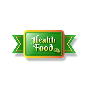 건강 식품 라벨 로고 디자인 서식 파일