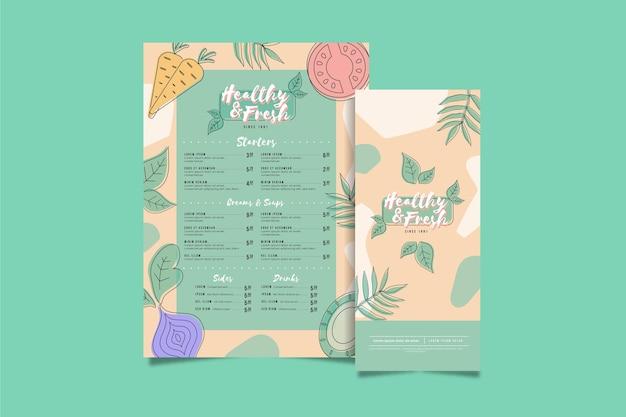 Health and fresh vertical menu template