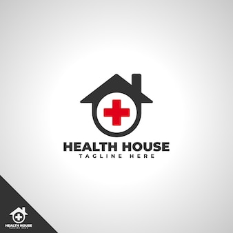 Health house logo template