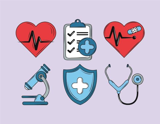 Коллекция иконок здоровья