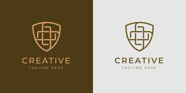 Health immune shield logo design template